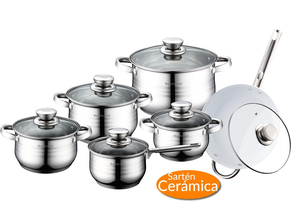 Bater a de cocina con sart n de cer mica royalty line for Ceramica de cocina precios