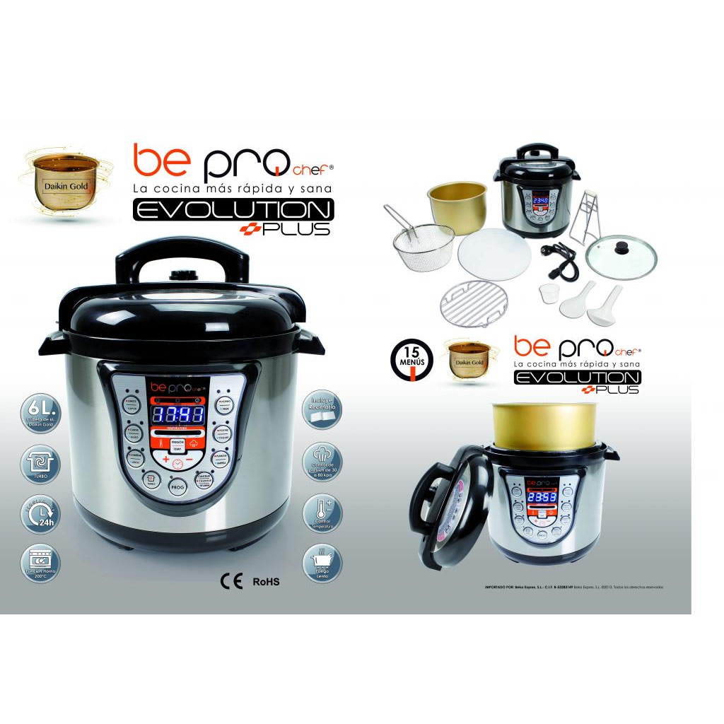 Be pro chef evolution plus olla programable accerios nuevos for Accesorios para chef